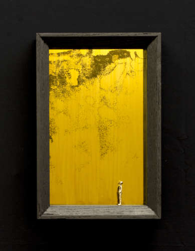 Truth is out there, Oak, bronze & glass, 3.5x19x29, 2014.jpg